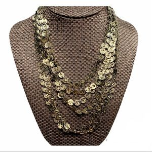 2/$15 Antique look French coin multi-strand necklace